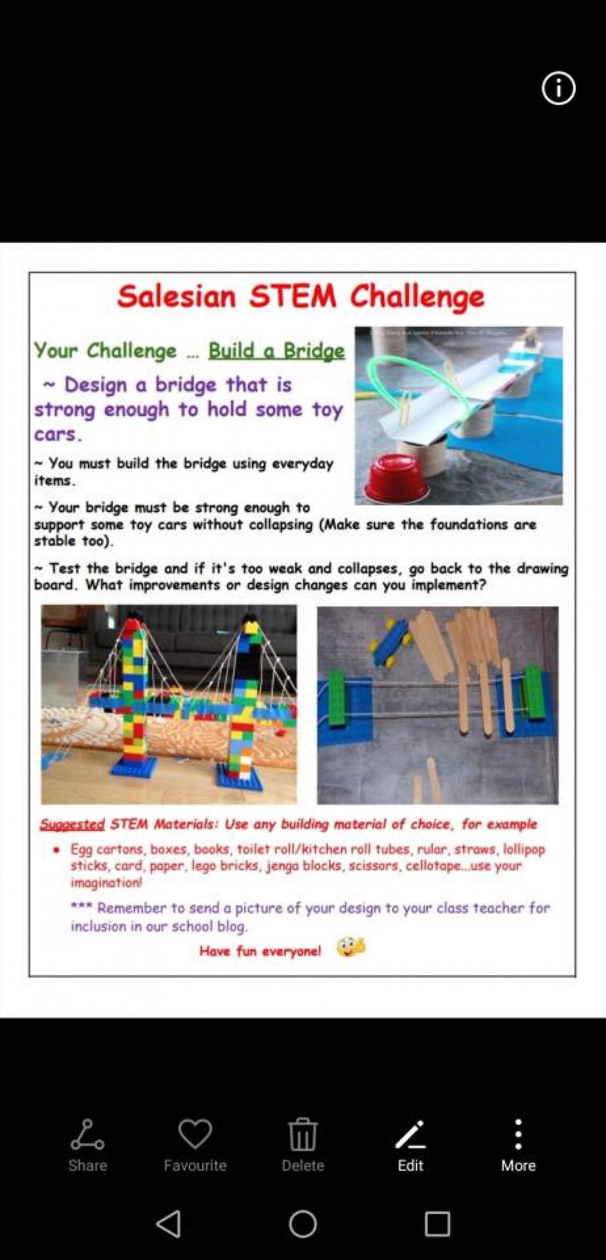 Build A Bridge Stem Challenge Blog